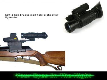 riffel montering til kof-2 night vision natkikkert mono goggle