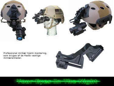 helmet mount for night night vision